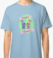 Happy Easter Cute Bunnies Classic T-Shirt