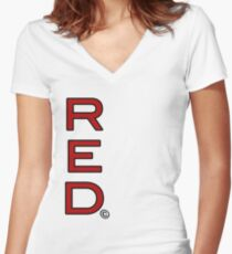 RED4 Women's Fitted V-Neck T-Shirt