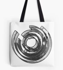 Abstract Maze Distressed Tote Bag