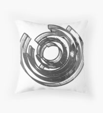 Abstract Maze Distressed Throw Pillow