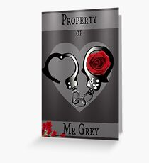 Property of Mr Grey Greeting Card
