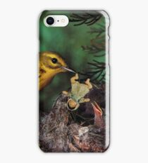 Baby Doll Feeding Time at the Bird Nest iPhone Case/Skin