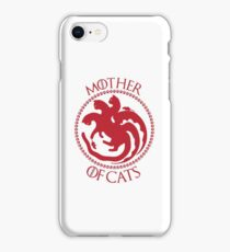 Mother Of Cats. Cat Lovers T-Shirt iPhone Case/Skin