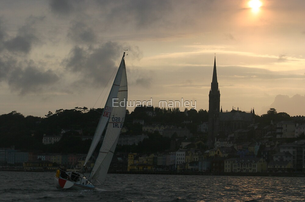 sail into a cobh sunset by Edward  manley