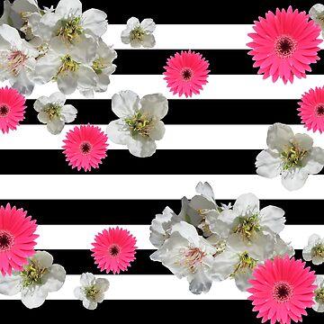 Black & Flowers by DERG