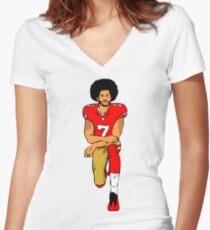 good fooftball Women's Fitted V-Neck T-Shirt