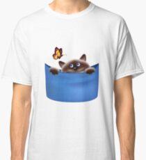 Cat & Butterfly Classic T-Shirt