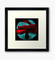 on the darkness side dragon Framed Print