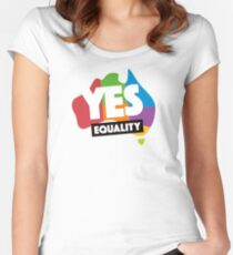yes vote in marriage equality Women's Fitted Scoop T-Shirt