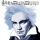 Beethoven and Fifth Symphony Opening Notes by EyeMagined