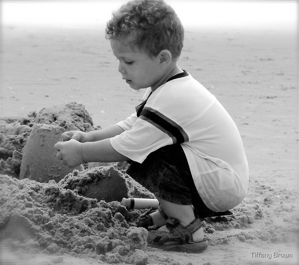First trip to the beach  by Tiffany Brown