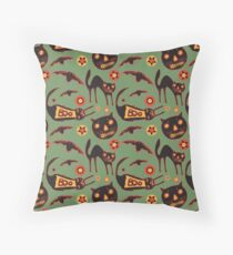 Scaredy Cats Throw Pillow