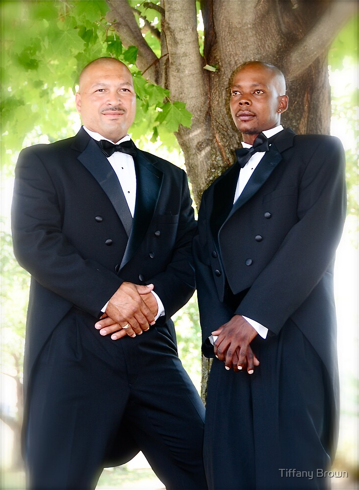Groom and Best Man by Tiffany Brown