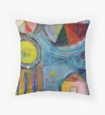 Pieces Of Color Throw Pillow
