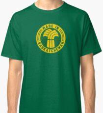 Made in Saskatchewan Logo (Gold & Green) Classic T-Shirt