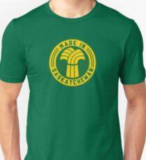 Made in Saskatchewan Logo (Gold & Green) Unisex T-Shirt