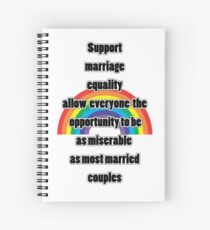 mARRIAGE eQUALITY  Spiral Notebook