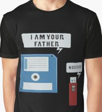 USB I Am Your Father Funny Graphic T-Shirt