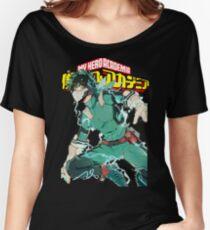 Deku Full Cowl-My hero Academia Women's Relaxed Fit T-Shirt