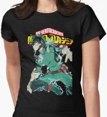 Deku Full Cowl-My hero Academia Women's Fitted T-Shirt