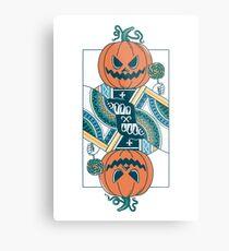 Pumpkin Player Metal Print