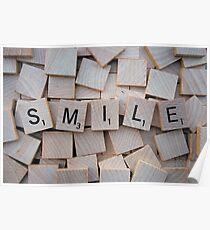 Scrabble Letters: SMILE Poster