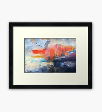 Blue Red Abstract  Framed Print