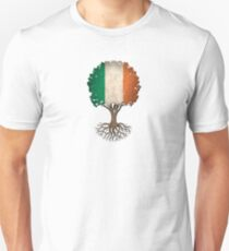 Tree of Life with Irish Flag Unisex T-Shirt