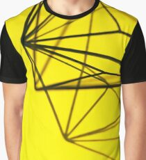 Abstract Yellow Line Art Graphic T-Shirt