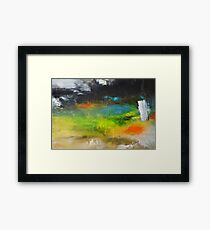 Green Abstract Art  Framed Print