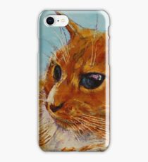Orange Tabby Cat iPhone Case/Skin
