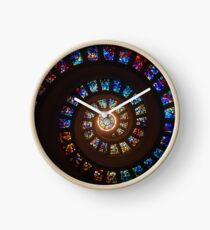 Stain-glassed Spiral Chapel Windows Clock