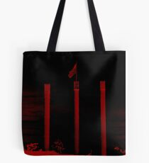 Bend Oregon in Black and Red (USA flag) Tote Bag