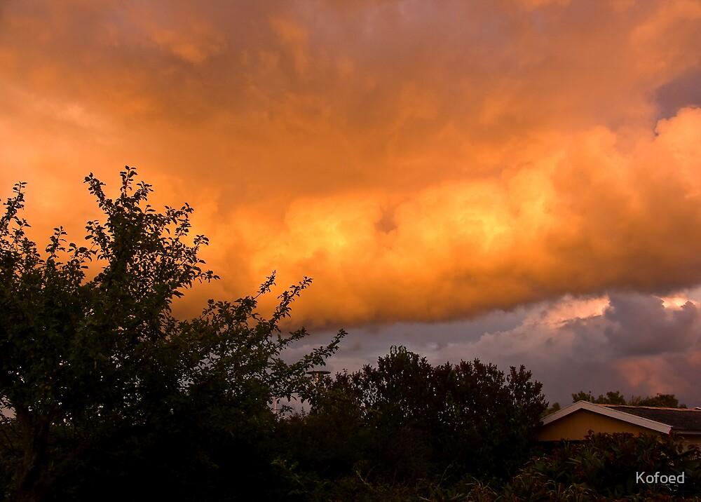 Fiery Clouds by Kofoed