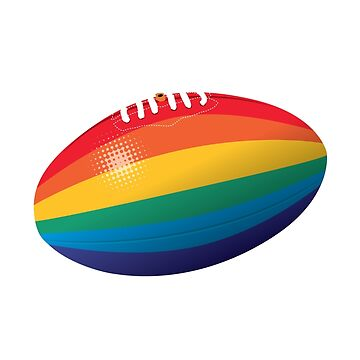 Rainbow footy - white type by 4boat