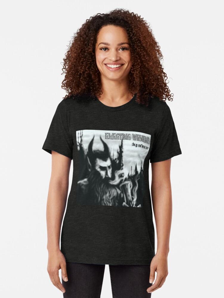 Alternative Ansicht von Elektrischer Zauberer Dopethrone Vintage T-Shirt
