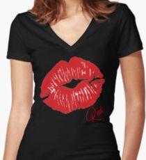 Lips Women's Fitted V-Neck T-Shirt