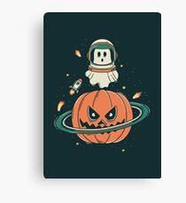 Pumpkin Planet Canvas Print