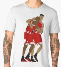 Michael Jordan And Scottie Pippen Men's Premium T-Shirt