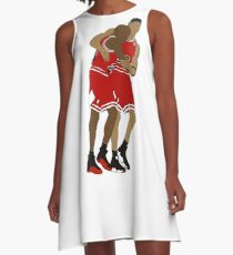 Michael Jordan And Scottie Pippen A-Line Dress
