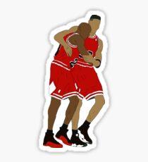 Michael Jordan And Scottie Pippen Sticker