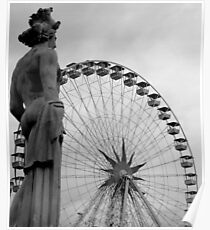Statuary and big wheel Poster