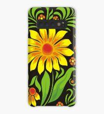 Flowers drawn in Ukrainian style Case/Skin for Samsung Galaxy