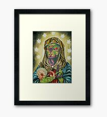 Blessed Reptilian Virgin and Child Framed Print