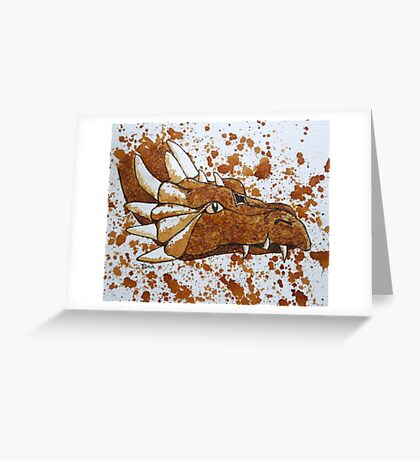 The Dragon of Nescafe Forest Greeting Card