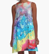 Figurative, abstract landscape A-Line Dress