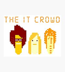 8 bit it crowd main character head Photographic Print
