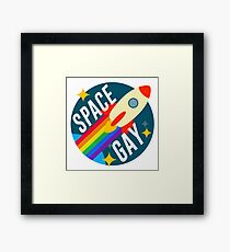 Space Gay Framed Print