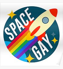 Space Gay Poster