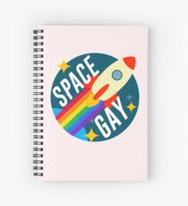 Space Gay Spiral Notebook